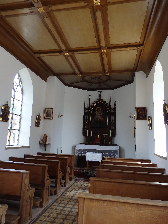 Die Kapelle von Vorderfischen - Innenansicht (Copyright: Brigitte Bergmaier)